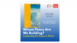 "ALC NEW BOOK RELEASE ""Whose Peace Are We Building?"""